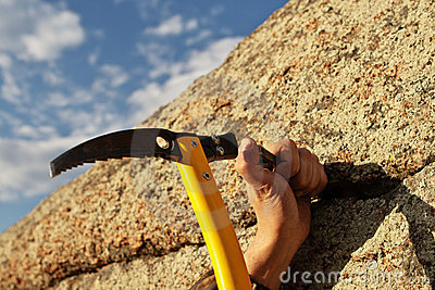 Image result for hammering rock