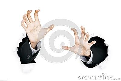 Hands scratching