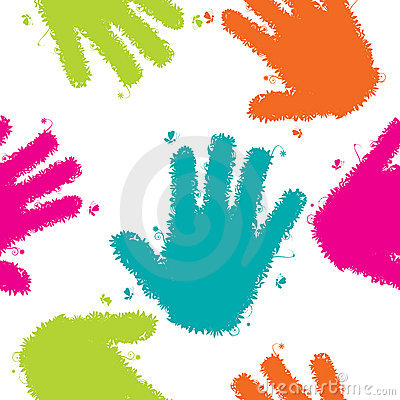 Free Hands Seamless Background Royalty Free Stock Photos - 11261028