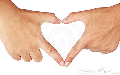 Hands Shaping A Heart. Stock Photos - Image: 24473223