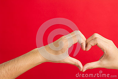 Hands shaping in a heart
