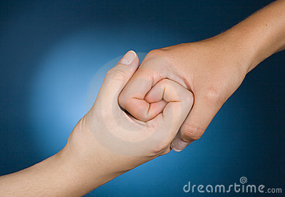 Hands show sympathy