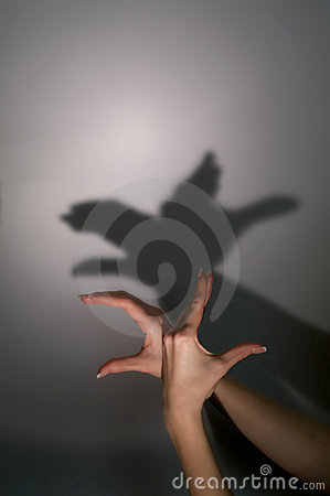 Free Hands Silhouette Duck Stock Photos - 22962133