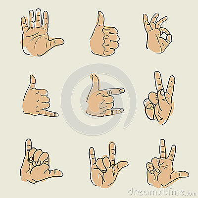 Hands sketch vector Vector Illustration