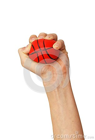 Free Hands Squeezing Ball Toy Stock Image - 26874871