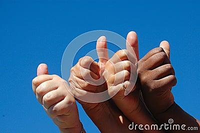 Hands successful girls