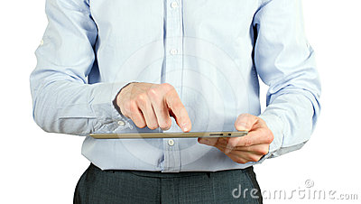 Hands with tablet pc