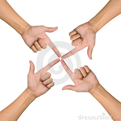 Hands of teamwork , conceptual style