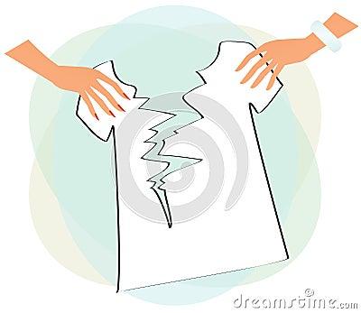 Hands Tearing T Shirt Royalty Free Stock Photo Image 19805075