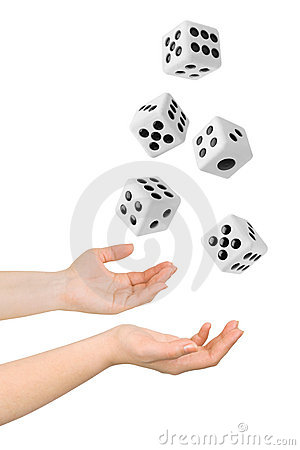 Free Hands Throwing Dices Stock Images - 16273564