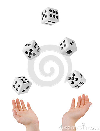 Free Hands Throwing Dices Stock Images - 34381304