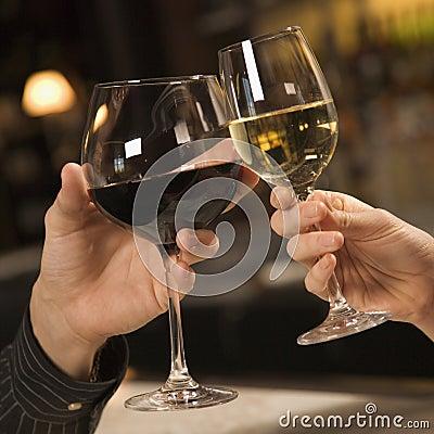 Free Hands Toasting Wine. Stock Image - 2432061