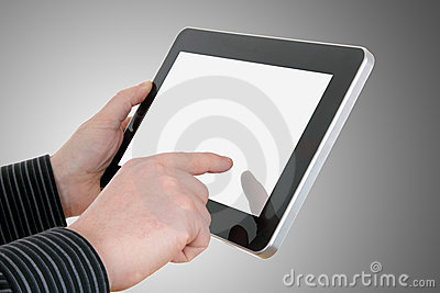 Hands with touch pad