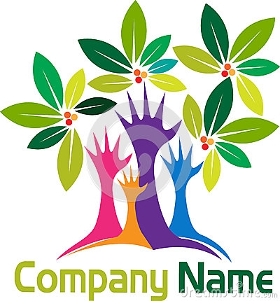 Free Hands Tree Logo Royalty Free Stock Photo - 32535265