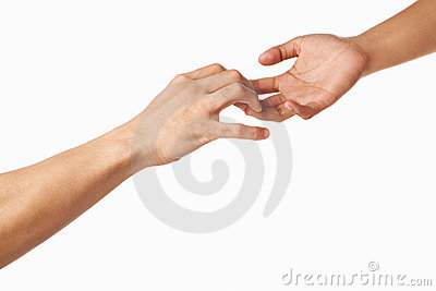 Hands trying to grab each other or seperate