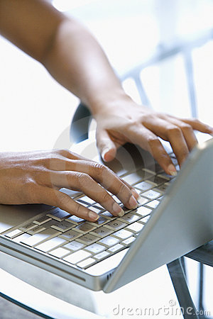 Free Hands Typing On Keyboard. Royalty Free Stock Images - 2044989
