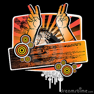 Free Hands Up For The Party Stock Images - 5072954