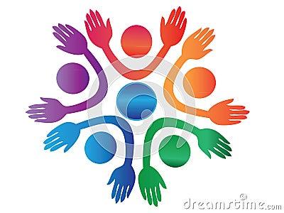 Hands up logo vector
