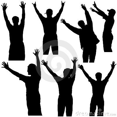 Hands Up Silhouettes 1