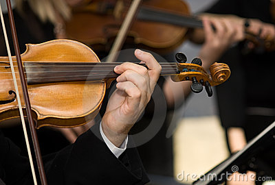 Hands and violins