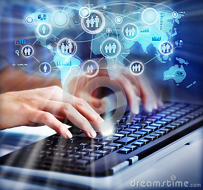 Free Hands With A Computer Keyboard. Stock Images - 35579764