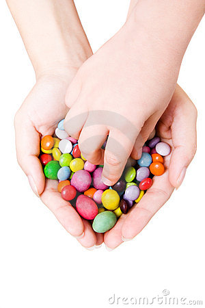 Free Hands With Sweets Royalty Free Stock Photos - 1293308