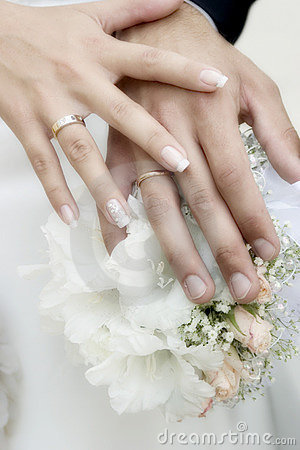 Free Hands With Wedding Rings Royalty Free Stock Image - 4108456