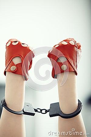 Hands in wristlets