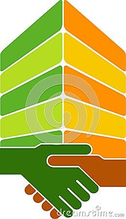 Handshake building logo