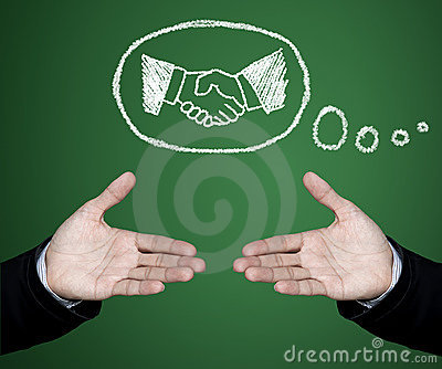 Handshake in business.