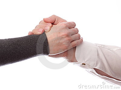Handshake of business partners, Isolated