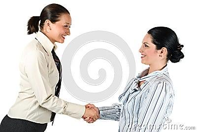 Handshake business woman teamwork