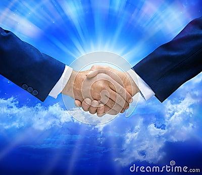 Handshake Deal Sky Business