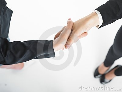 Handshake Handshaking of two business woman