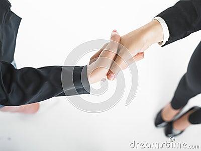 Handshake Handshaking of two business woman