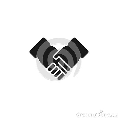 Handshake icon graphic design template vector Vector Illustration