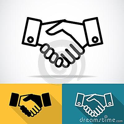 Handshake icon Vector Illustration