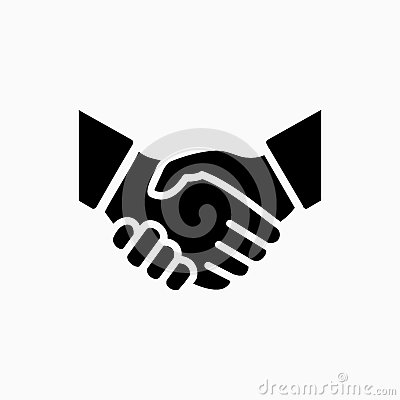 Free Handshake Icon Simple Vector Illustration. Deal Or Partner Agree Royalty Free Stock Images - 84890809