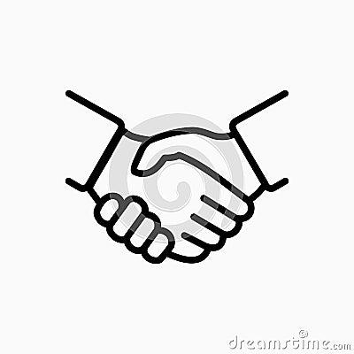Handshake icon simple vector illustration. Deal or partner agreement symbol Vector Illustration