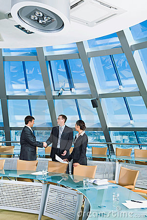 Free Handshake In Conference Room Royalty Free Stock Photography - 3204867