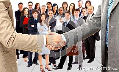 Handshake isolated on business