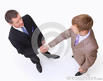 Handshake isolated on white