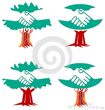 Handshake logo set