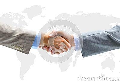 Handshake with map