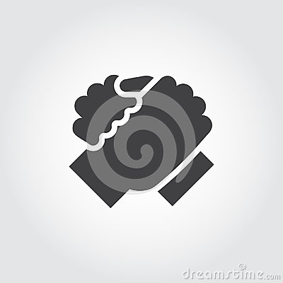 Free Handshake Of Two People Icon In Flat Style. Stock Photography - 97341952