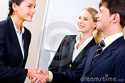 Handshake of partners