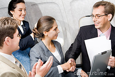 Handshake in the plane