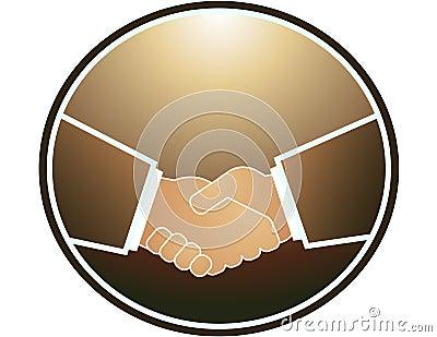 Handshake in round and light