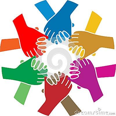 Handshake team Vector Illustration