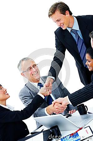 Handshake and teamwork